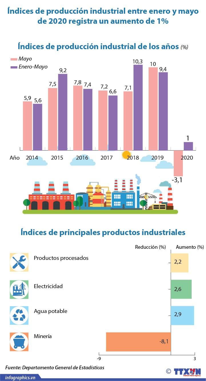 [Info] Indices de produccion industrial registra un leve aumento hinh anh 1