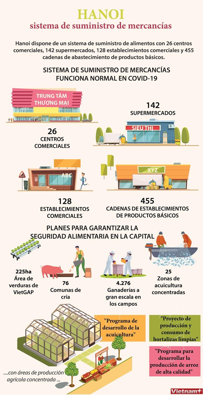 [Info] Sistema de suministro de alimentos en Hanoi hinh anh 1