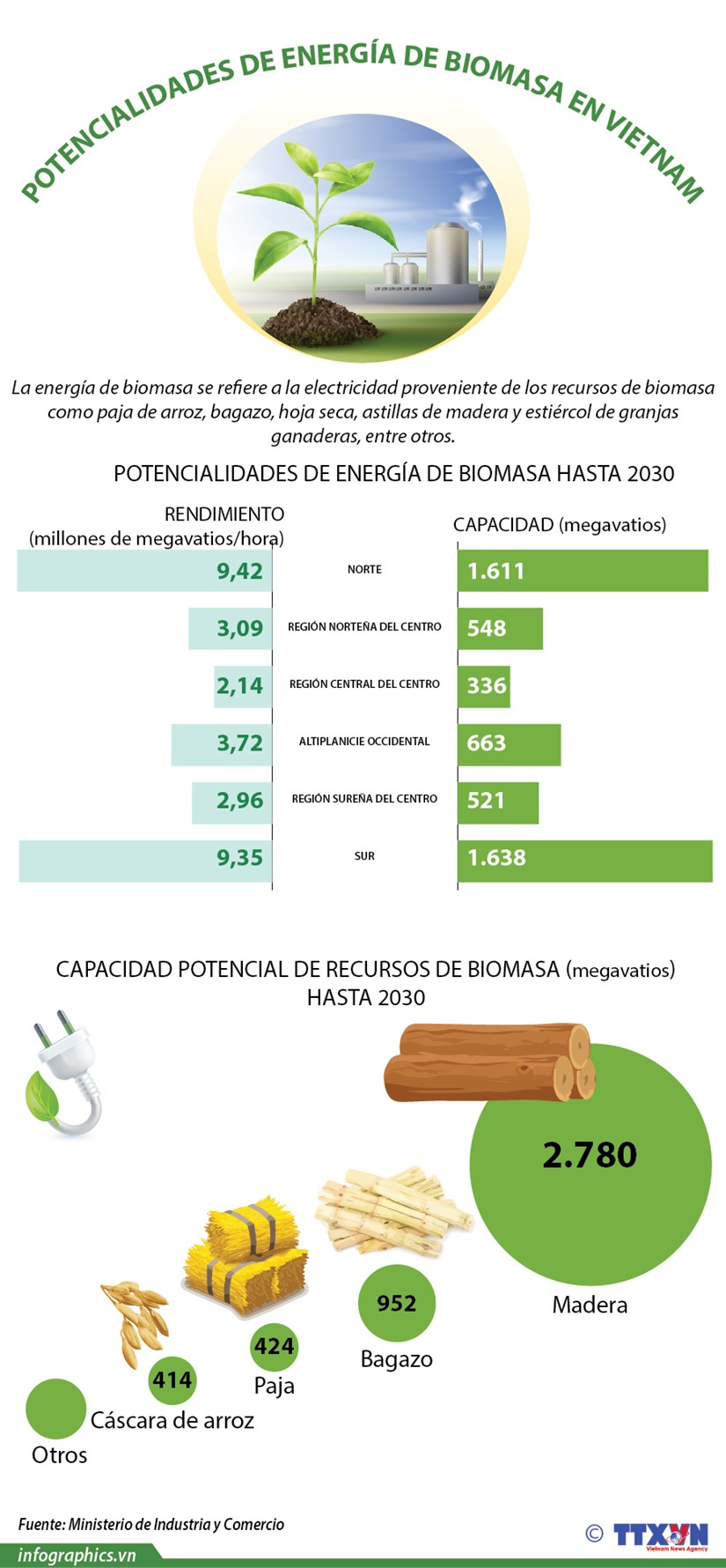 Potencialidades de energia de biomasa en Vietnam hinh anh 1