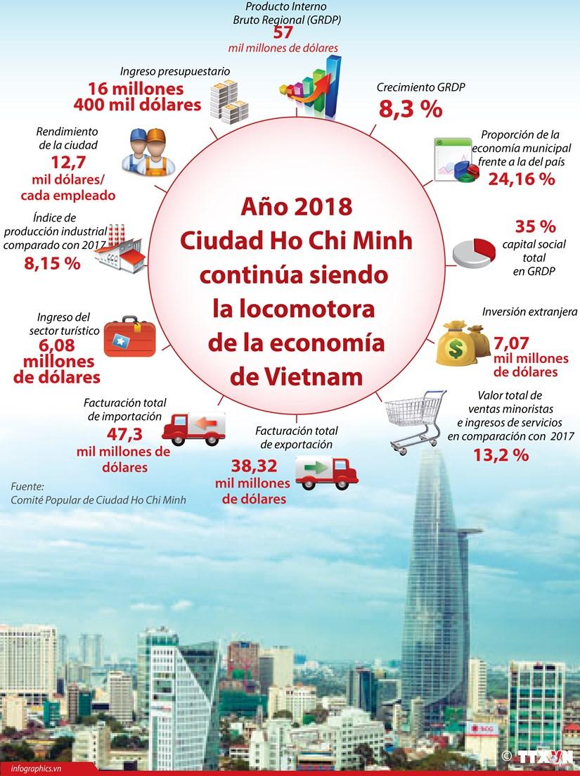 [Infografia] Ciudad Ho Chi Minh continua siendo locomotora de economia de Vietnam hinh anh 1