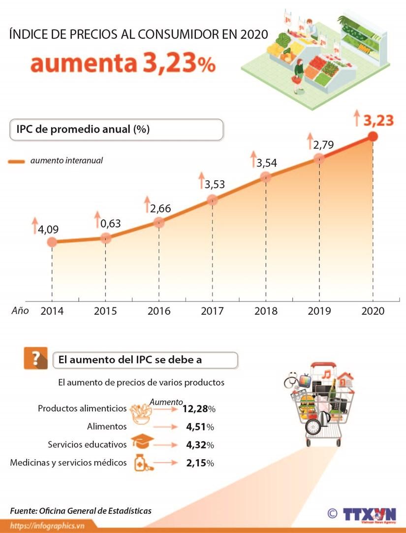 Indice de Precios al Consumidor aumenta 3,23 por ciento hinh anh 1