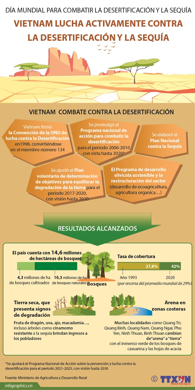 Vietnam lucha activamente contra la desertificacion y la sequia hinh anh 1