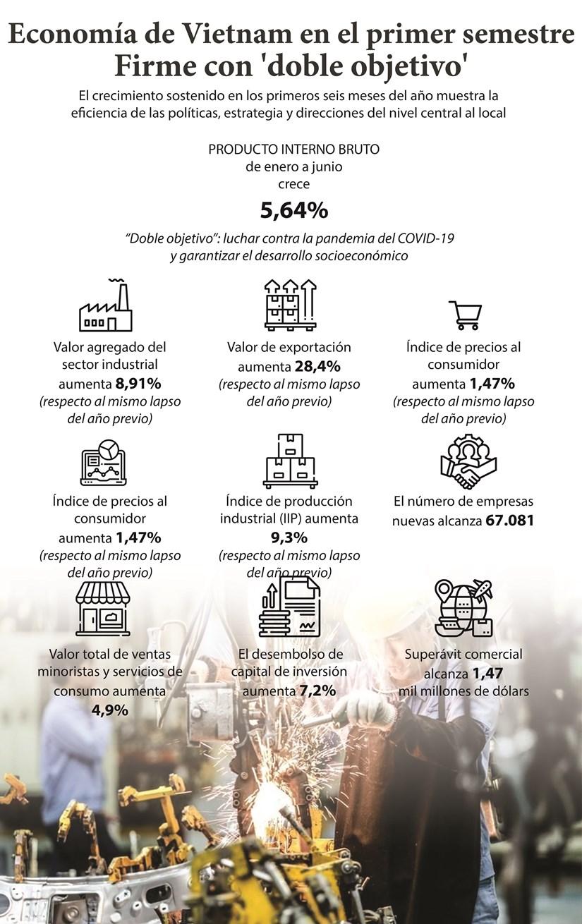 Economia de Vietnam en el primer semestre: Firme con 'doble objetivo' hinh anh 1